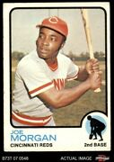 1973 Topps 230 Joe Morgan Reds 4 - Vg/ex