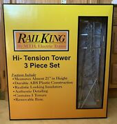 Rail King High Tension Tower 3 Piece Set By Mth Electric Trains Nos Mib