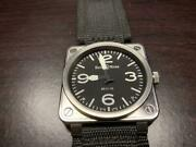 Bell And Ross Nylon Belt Br01-92 Self-winding Black Dial Square Menand039s Watch