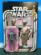 Star Wars Custom Stan Solo U-3po With Removable Limbs On Card