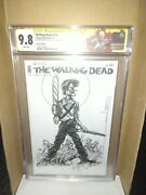 Walking Dead 150 Blank Sketch Variant Cgc 9.8 Signed Sketched By Arthur Suydam