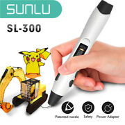 Sunlu 3d Printing Pen Drawing Crafting Modeling Pla/abs With Lcd Screen White