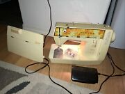 Singer Genie Sewing Machine Model 354 Cover And Foot Pedal Tested Works