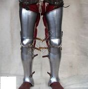 Knight Medieval Collectibles Armour Leg Protection Steel Plates Reproduction 18g
