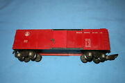American Flyer 633 Bando Baltimore And Ohio Red Painted Boxcar