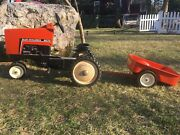 Vintage Allis Chalmers Pedal Tractor With Cart