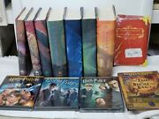 Complete Set Of 7 Harry Potter Hardcover Books First Edition + Bonus Items
