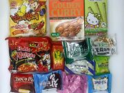 50+ Item Asian Snack Box With Curry Fire Noodle Korean Japanese And Face Mask
