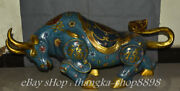 41 Old China Cloisonne Enamel Feng Shui Zodiac Animal Bull Oxen Cattle Statue