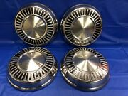 Vintage Set Of 4 1965andndash66 Plymouth 10andrdquo Dog Dish Hubcaps Hemi Max Wedge Good Cond.