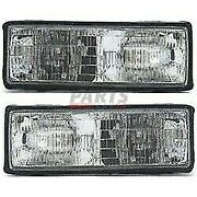New Set Of Two Halogen Head Lamp Assembly Lh Rh Fits 87-90 Chevrolet Caprice