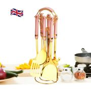 Kitchen Cooking Utensils Set -stainless Steel And Ceramic-uk Design-5 Colours