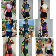 Womenand039s Triathlon Short Cycling Bicycle Bike Jersey Set Skinsuit Training Outfit