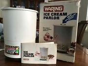 Waring Ice Cream Parlor Vintage Electric Ice Cream Maker Cf520-1 Complete Set