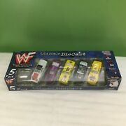 Wwf Rare 5 Pack 1999 Diecast Cars 164 The Rock Undertaker Mankind Stone Cold Dx