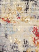 Pasargad Home Modern Collection Hand-knotted Silk And Wool Area Rug