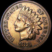 1874 Indian Cent Penny ---- Stunning Details ---- M036