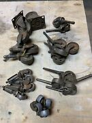 Large Vintage Antique Lot Casters, Handles, Knobs Glass Late 1800's-mid 1900's