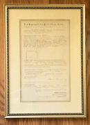 P.t. Barnum King Of Promoters Signed Deed 1888