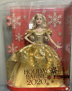 2020 Holiday Signature Barbie Doll Long Blonde Hair Mattel New Free Shipping