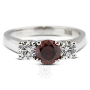 1.48 Ct Red Si1 Round Natural Certified Diamonds 14k Classic Engagement Ring