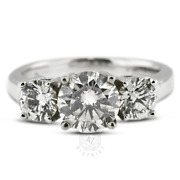1ct Tw E Si1 Round Cut Natural Certified Diamonds Pt 950 Classic Engagement Ring
