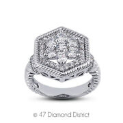 1 1/2ct Tw F Vs1 Round Earth Mined Certified Diamonds 18k Gold Halo Womens Ring