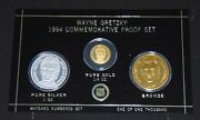 Wayne Gretzky Ny Rangers Enviromint .999 Silver Coin W/ 24 Kt Gold Round 1/1000