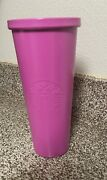 Starbucks Barbie Tumbler Size 24 Oz Cup Matte Pink Cold Cup No Straw