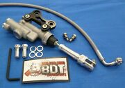 Honda 86-89 Trx250r Trx 250r Bdt Rear Brake Master Cylinder Conversion Billet