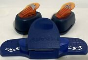 Fiskars Butterfly Tree Autumn Fall Border Punches Paper Punch Lot Of 3