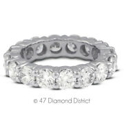 1 1/2 Ct G Si1 Round Natural Certified Diamonds 18k Gold Classic Eternity Ring