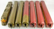 Custom Made Antique Wabash Valley Engine And 6 Car Aluminum And Wood 10 Ft Train Set