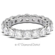 2 1/2ct Tw F Si2 Round Cut Natural Certified Diamonds 18k Gold Eternity Band