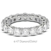 4ct Tw H Si1 Round Brilliant Natural Certified Diamonds 950 Plt. Eternity Band