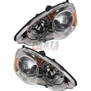 New Head Lamp Left And Right Fits 2002-2004 Acura Rsx 33151s6ma01 33101s6ma01
