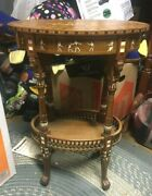 Rare Liberty And Co. Egyptian Revival Inlaid Table Rosewood Pharoh 19th C Lion Paw