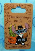 Disney Pin Stitch Happy Thanksgiving Le 2013 Carded Pins