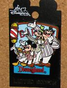 Disney Pin Carded Mickey Donald Goofy Pete Barber Shop Le Rare Pins