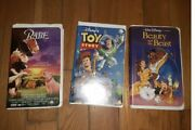 Lot 3 Vhs Tapes 2 Of Them Disney 1995 Beauty And The Beast 1992 Toy Story And Babe