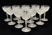 12 Saint St Louis France Glass Florence Pineapple Cordial Wine Goblets
