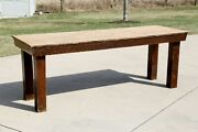 Antique Farm Table Farmhouse Country Ranch Oak Dining Table Kitchen Island