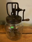 Vintage Butter Churn 3 Quart Andldquo Cool Water Fountain Glass