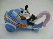 Warner Brothers Studio Store Pepe Le Pew And Penelope Blue Airplane Teapot - New