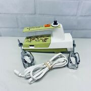 General Electric 10-speed Hand Mixer Portable Vintage Ge Green D1-3574