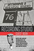 Recording Studio Guest Book Notes And Contact Information For Artists/musici...