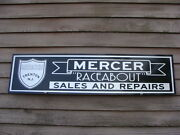 Early Style Mercer Raceabout Dealer/service/advertising Sign/garage Art 1and039x4and039