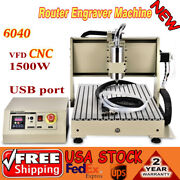 Usb 6040 3axis Engraver Cnc Router Engraving Machine G Code Spindle Motor 1500w