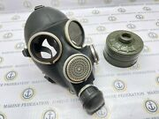 Soviet Russian Army Military Gasmask Gp-7 Rubber Gas Mask Single Filter Vintage