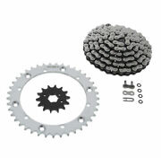 Cz Atv X Ring Chain And Silver Sprocket 14/41 100l Fits 1997-00 Yamaha 350 Warrior